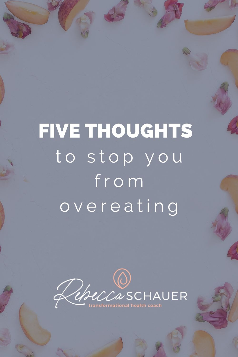 These five reflections before eating are a way to foster mindful eating. When we practice mindful eating and being present with our food, we decrease the likelihood of automatic overeating. Rebecca Schauer, RDN; Find Freedom with Food