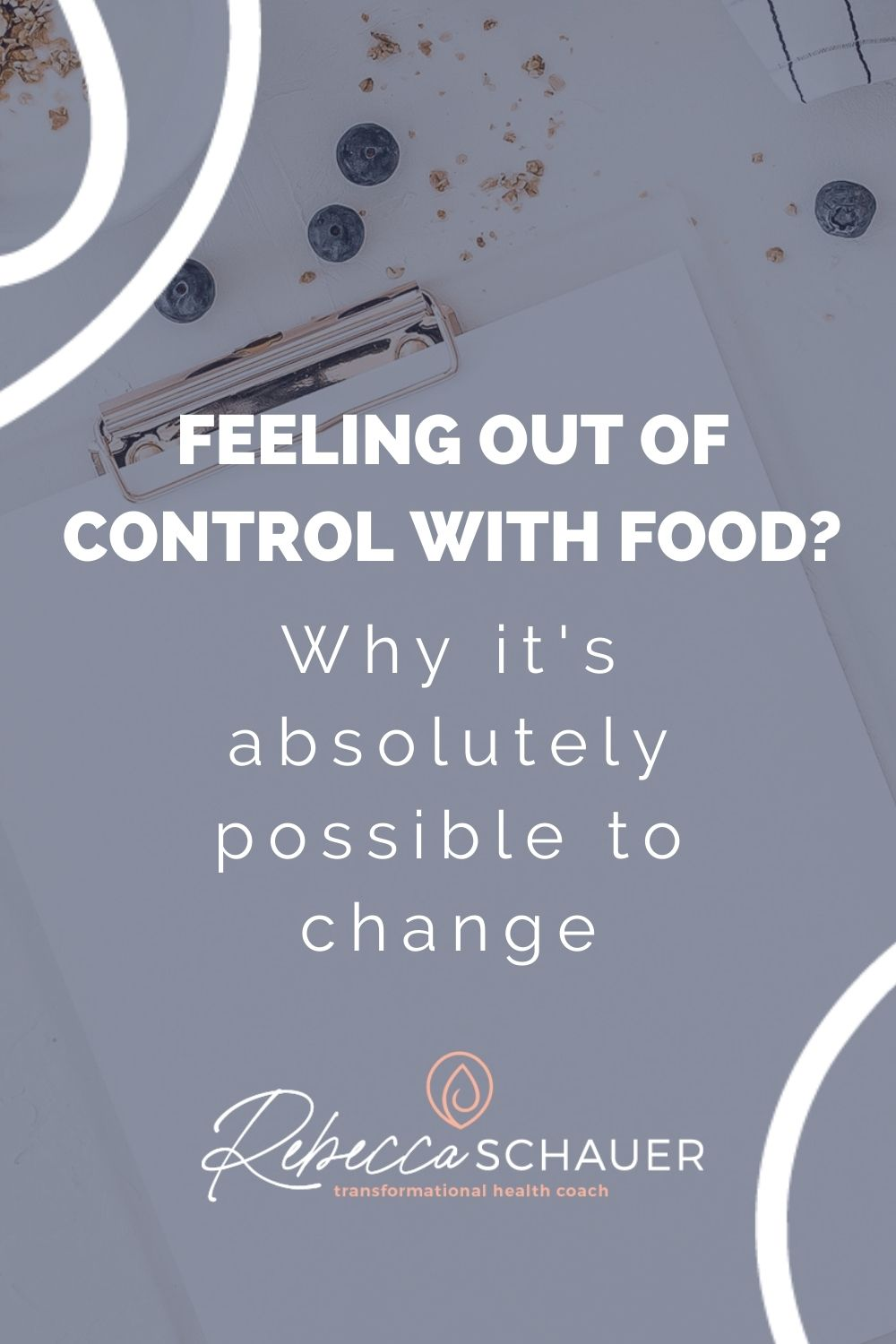 How to feel in control of your eating. If feeling in control around food is difficult for you right now and overeating feels automatic, it can become the opposite. Feeling in control and NOT overeating can become the easier, more natural thing to do. Lose weight permanently | Rebecca Schauer, RDN